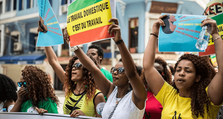 Photo: TesfaNews, Ethiopian migrant domestic workers mark International Workers' Day in Beirut by demonstrating for basic rights